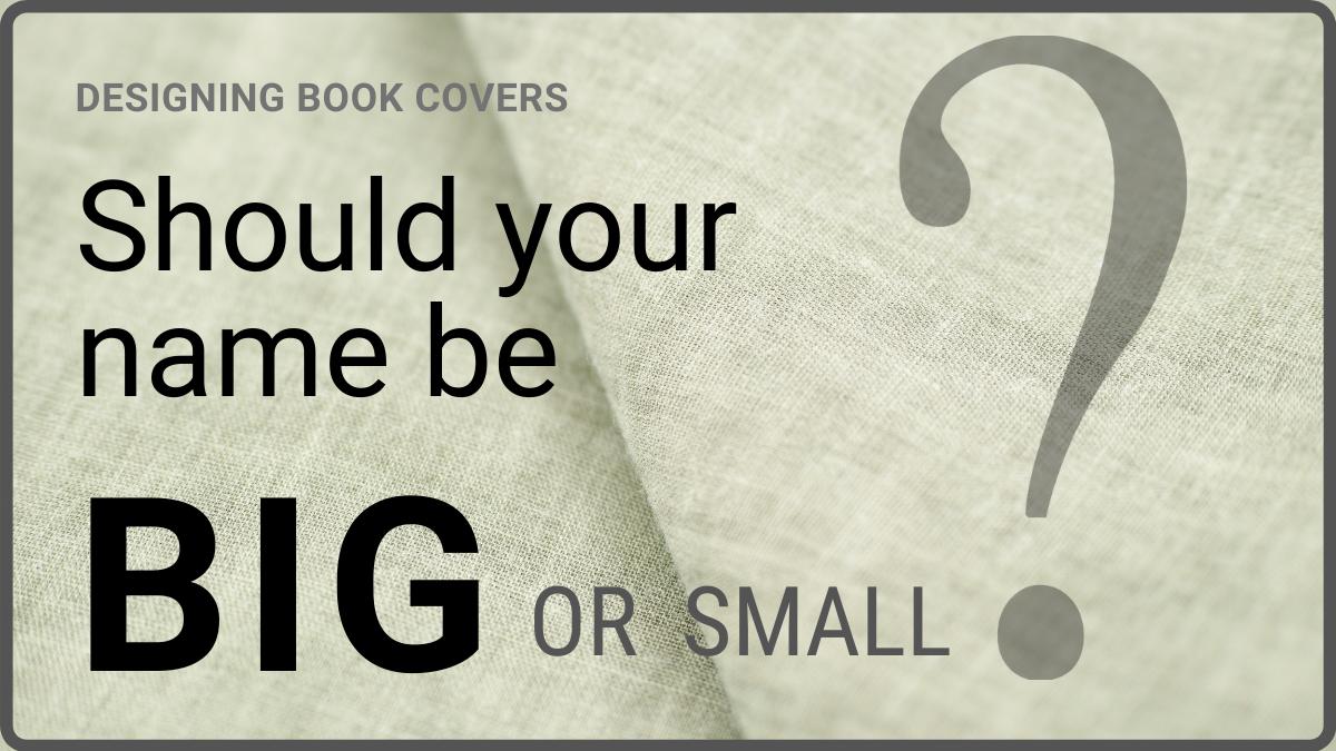 Self publishing tips author name